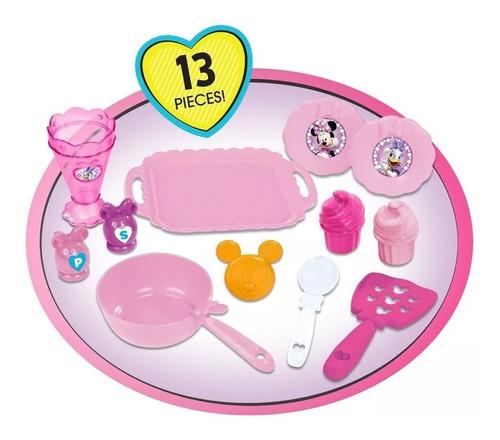 cocina minnie mouse juguete cafeteria con luces y sonidos.