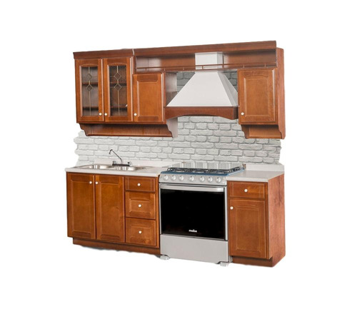 cocina modelo amsterdam 240 - nogal këssa muebles