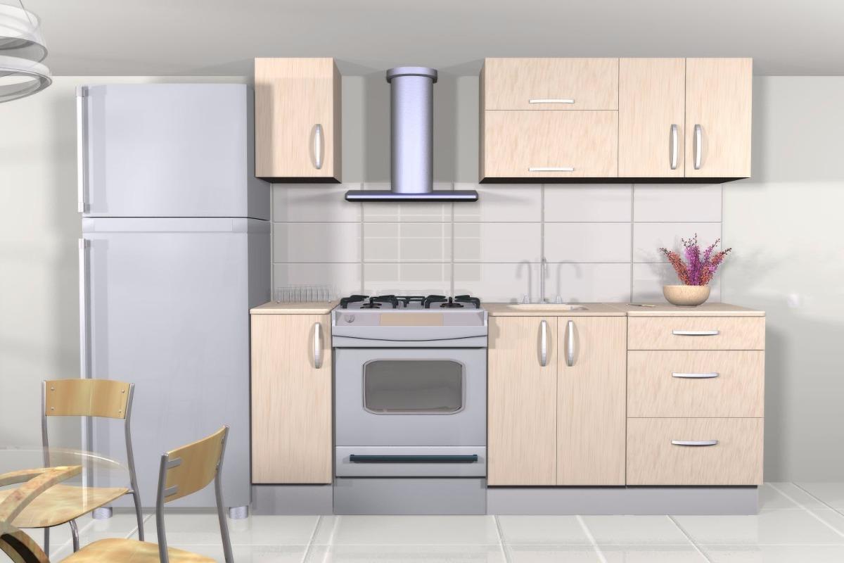 Cocina modular de 2 65 metros costo por metro lineal for Cocina 3 metros pared