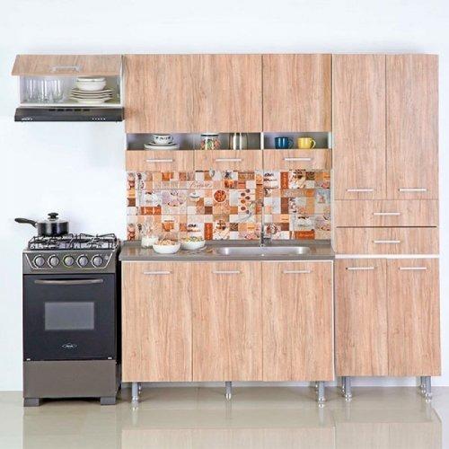 Cocina Carvalho Derecha 2.40 Mts Mueble De Cocina Hogar Ea