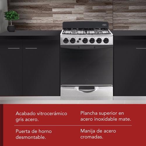 cocina multigas waykuna 60cm acero inox 4 hornallas tst *12