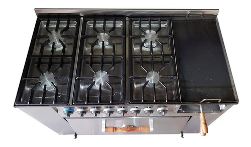 cocina multiple tecnocalor 115cm 6 h plancha carlitero