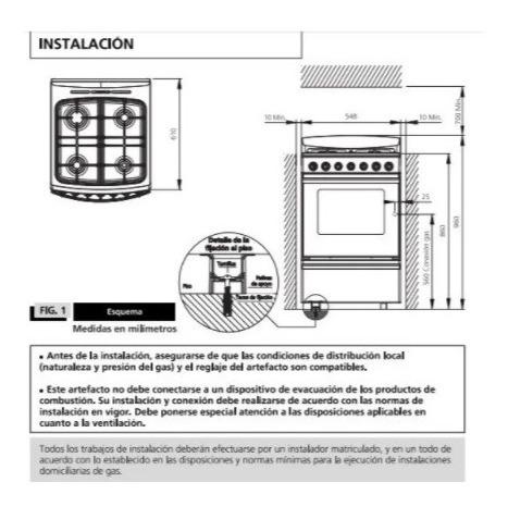 cocina orbis combinada 96eac3  inox 55cm digiya