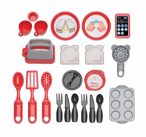 cocina para niños con 22 accesorios.