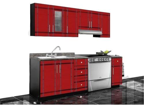 cocina paris 240 m - rojo këssa muebles