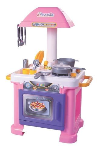 cocina piccola rondi 19 accesorios horno niña juguete juego