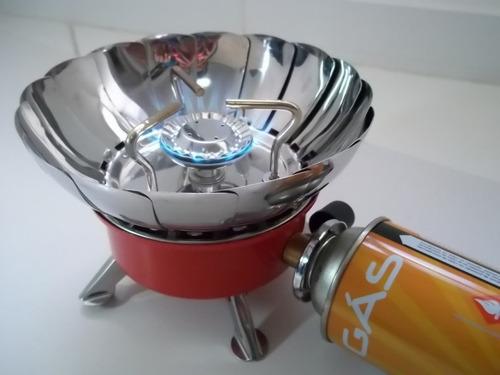 cocina portatil camping a prueba de viento enc. automatico