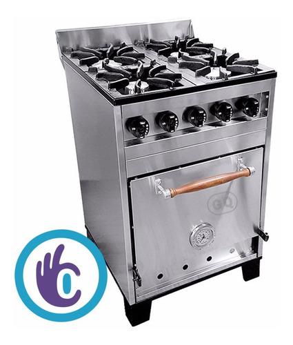 cocina semi industrial eg 57 acero horno pizzero ahora 12