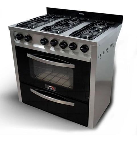 cocina semi industrial sol real motta 87cm gn negra vidrio -