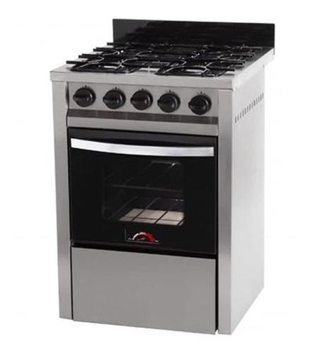 cocina semi industrial sol real motta negra 60cm ge-aj hogar