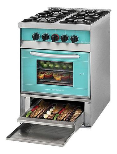 cocina sol real 516 verde c/parrilla - aj hogar