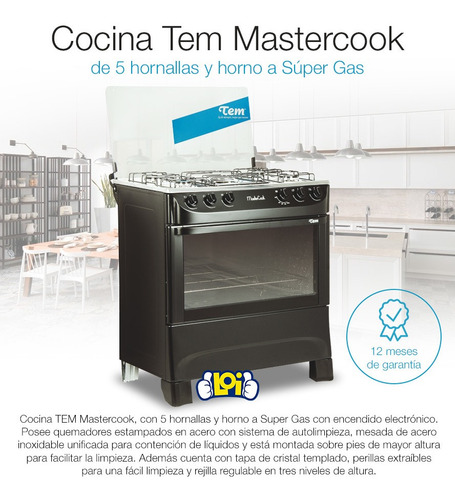 cocina tem mastercook 5h super gas oferta loi
