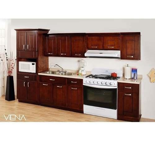 cocina viena 240 m - nogal këssa muebles