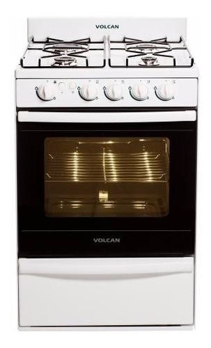 cocina volcan 89643v blanca autolimpiante con luz encendido
