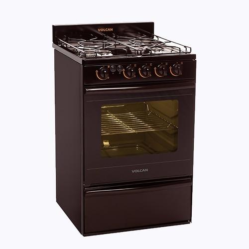 cocina volcan 89653v marrón autolimpiante luz y encendido