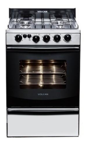 cocina volcan acero inoxidable con luz y encendido 89673