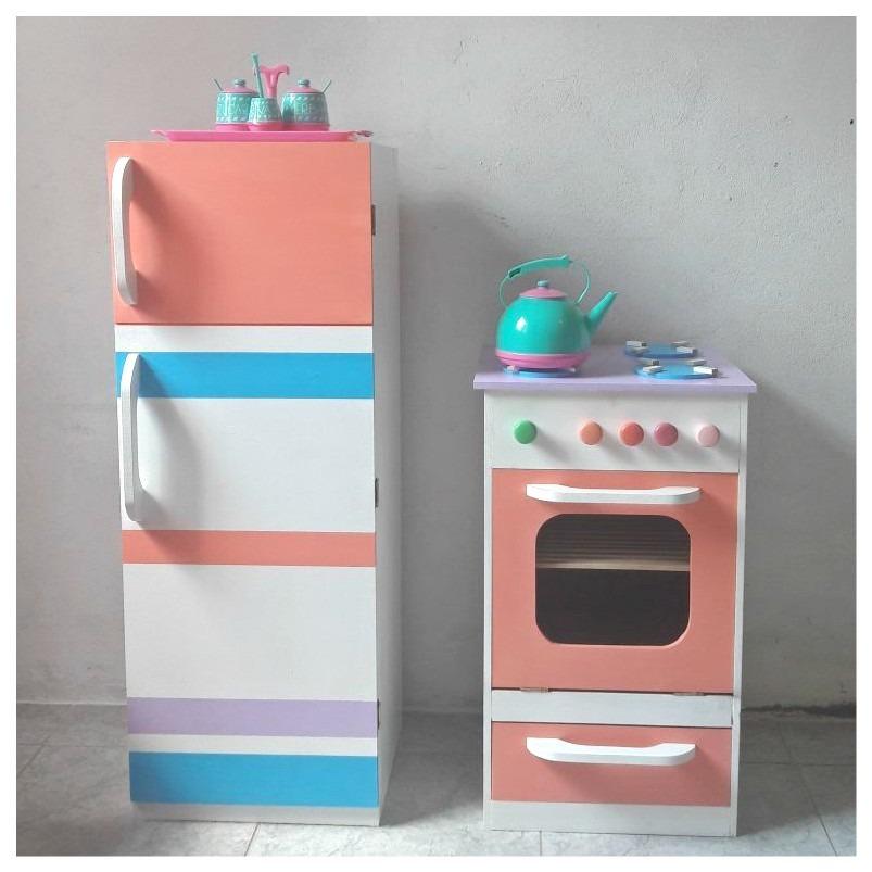 Elegant Cocina Y Heladera Para Niños En Madera   Colores A Elección. Cargando Zoom.