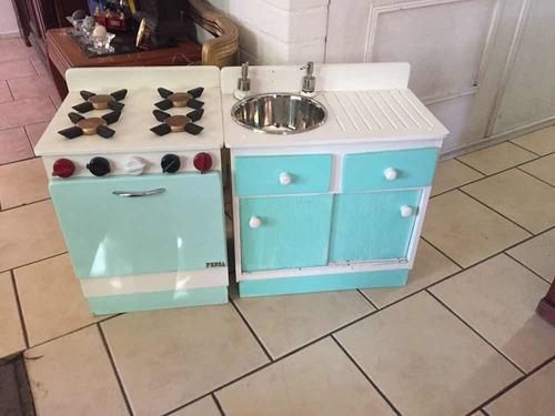 cocina y lavaplatos de juguete madera regalo niña navidad