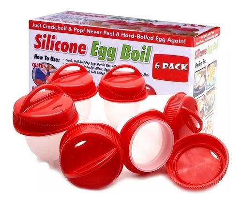 cocinar huevos sin cáscara silicona