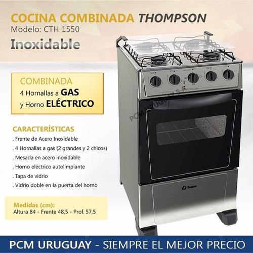 cocinas combinadas james modelo thompson inoxidable 12p pcm