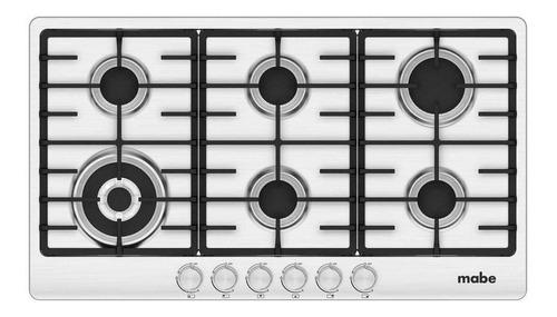 cocinas - cubierta de empotrar 75 cm inoxidable mabe  geb-fl