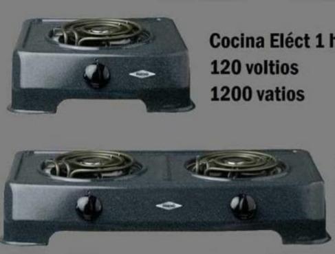 cocinas eléctricas haceb de 2y1 hornilla so( tienda física)