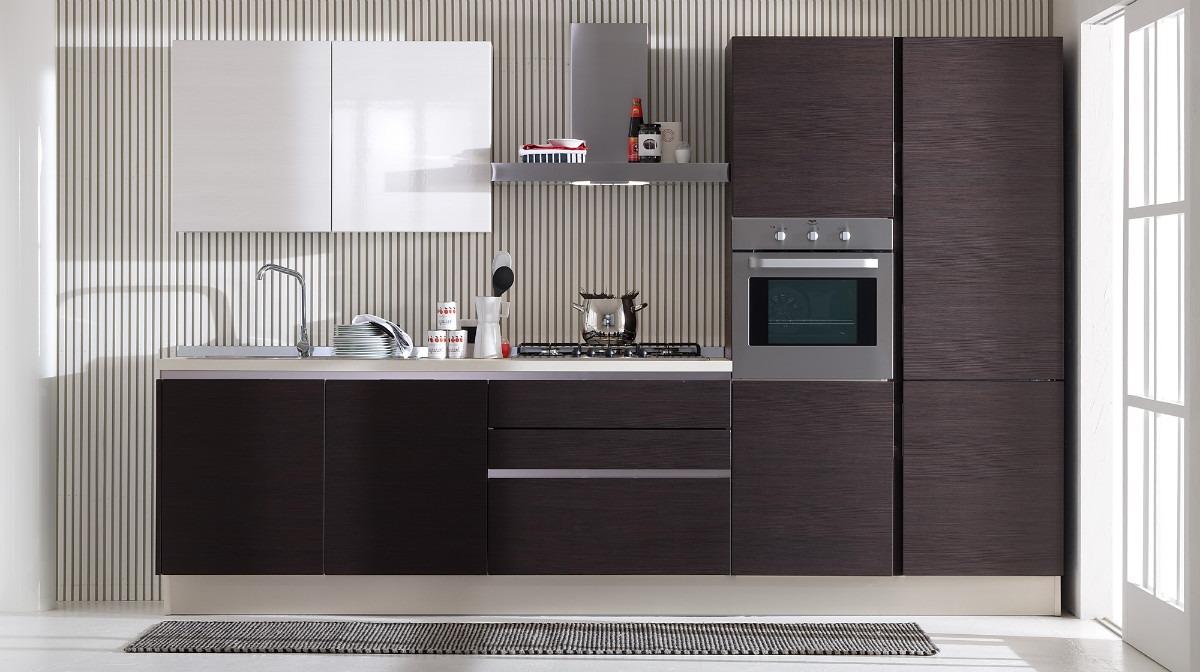 Cocinas empotradas en mdf melaminico ss13 bs for Muebles de mdf para cocina