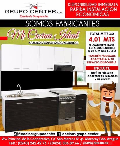 cocinas empotradas modulares  adaptables a cualquier espacio