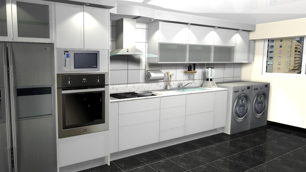 Cocinas empotradas todos los modelos dise os 3d asesor a for Imagenes de muebles de cocina americanas