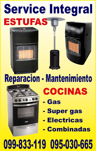 cocinas estufas familiar-industrial.reparacion