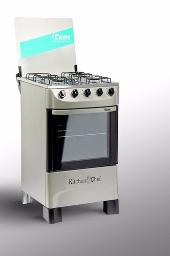 cocinas gas tem kitchen inox 4 hornallas autolimpiante pcm