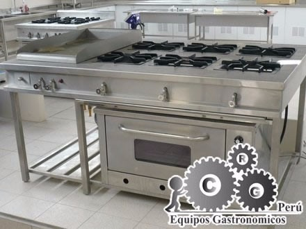 Cocinas industriales de acero inoxidable con horno s 2 for Distribucion de cocinas industriales