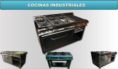 cocinas industriales, fogones, reverberos y planchas.