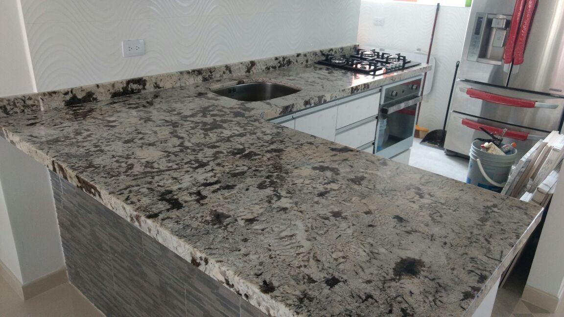Cocinas integrales mesones muebles granito natural marmol - Precio granito cocina ...