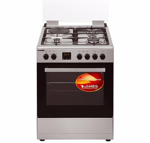 cocinas james c25 combinadas forzador de aire en horno pcm