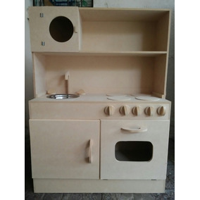 Juego Cocina De Juguete, Muebles Infantiles, Madera 12mm - Cocinas ...