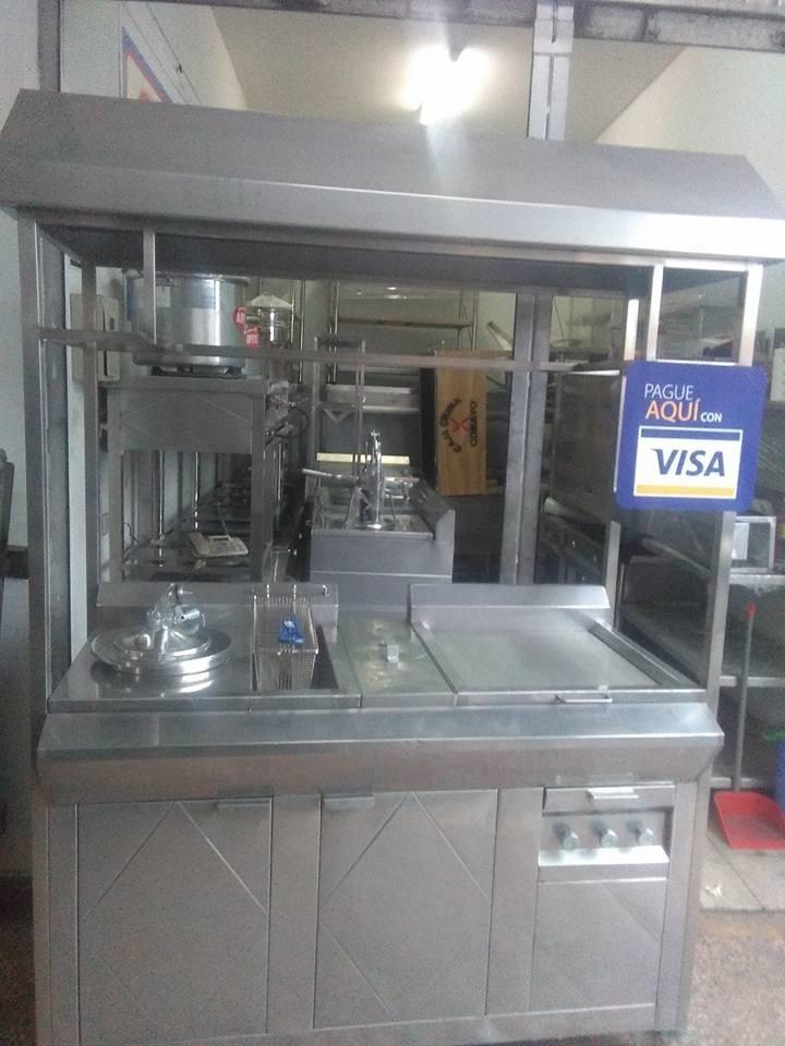 Cocinas Mesas Hornos Caja China Carrito Para Broster Acero - S ...