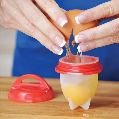 cocinero de huevo de silicona - huevos tibios x 6 unidades