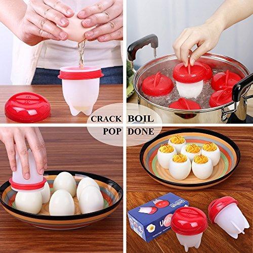 cocinero de huevos duro y suave fabricante de cocidos 6 paq