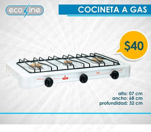 cocineta a gas ecoline - 3 y 4 quemadores- 1 año de garantía