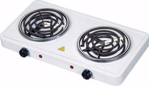 cocineta electrica de 2 doble hornilla potentes portatil