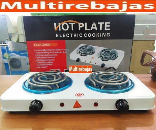 cocineta eléctrica  doble hornilla potente portátil