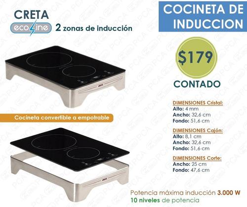cocineta - encimera inducción 2 y 4 zonas - 10 años garantía