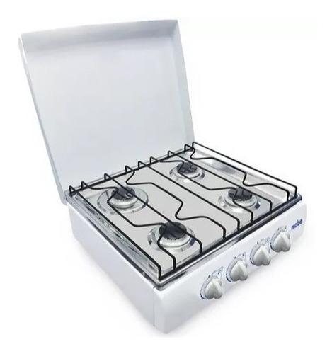 cocineta mabe 4 quemadores a gas color blanco