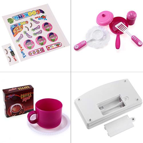 cocinita cocina infantil niña  sonido luz accesorios rosa