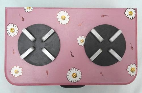 cocinita infantil artesanal pintada a mano de fibrofacil