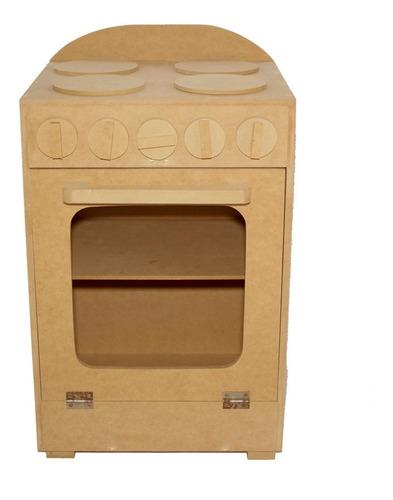 cocinita juguete madera simple fibrofacil aprender niños