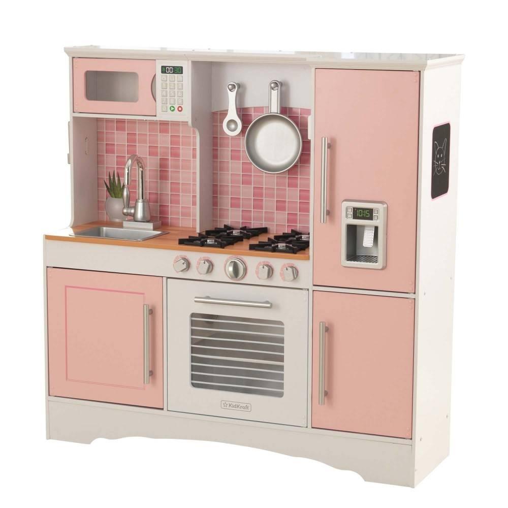 Juguete Rosa Niña Cocina Para Madera Kidkraft De 34rj5al Cocinita N8XZn0wOPk