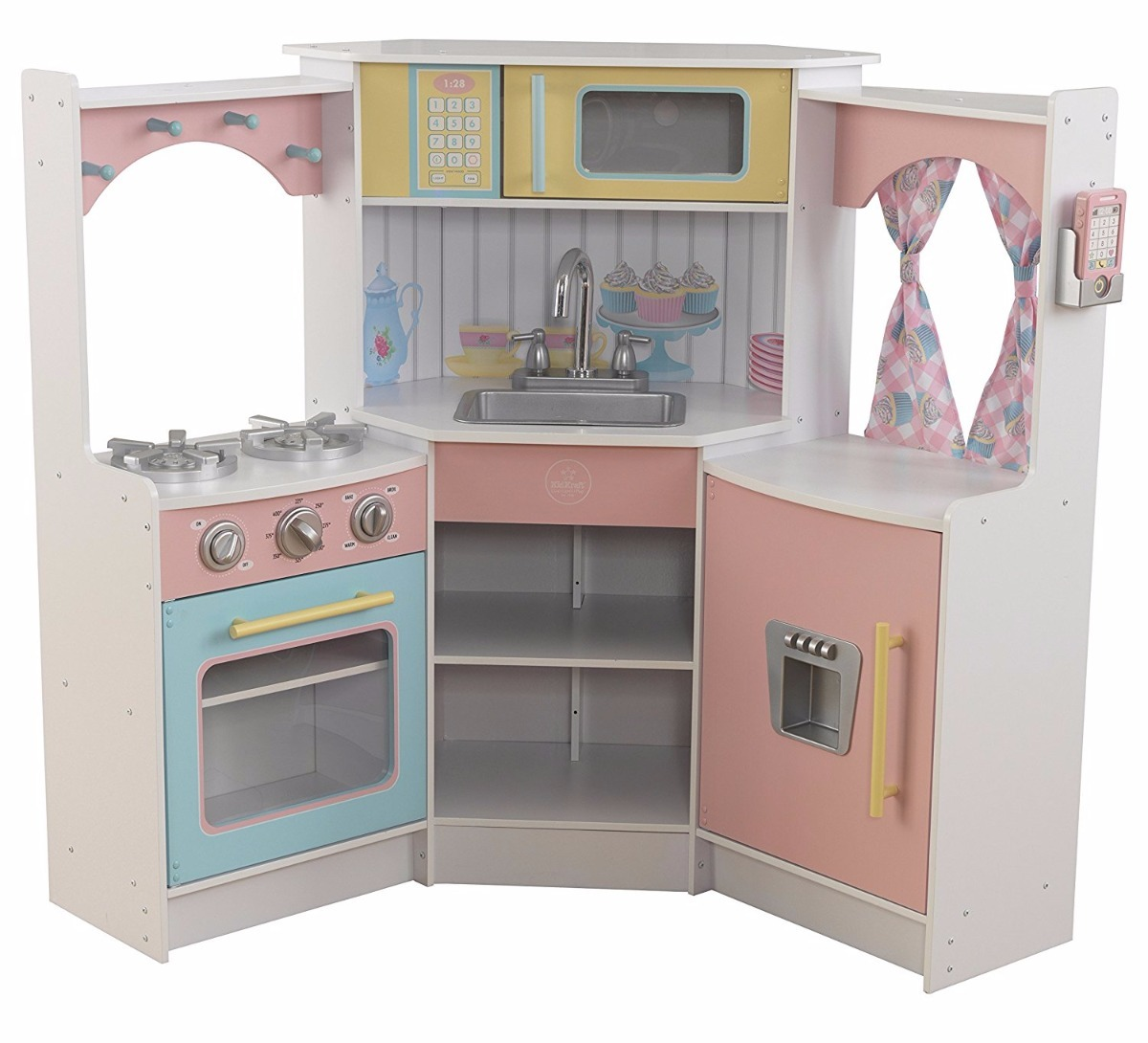 Cocinita Para Niños Kidkraft Kids Kitchen Playset White Cargando Zoom