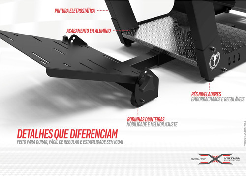 cockpit ve.2 simulador suporte para volante g29, g920, t500